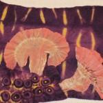 """""""Rain Makes Mushrooms Grow"""" - Hand Dyed Silk and Felt"""