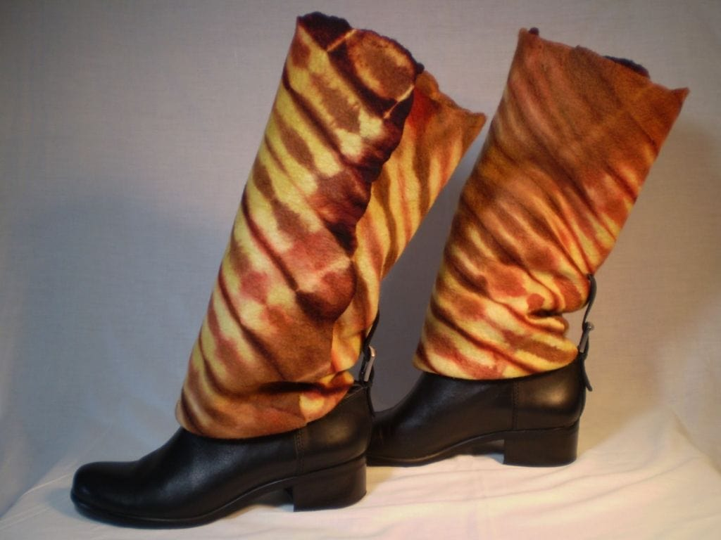 Hand-felted Hand-dyed Boot Covers