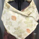 Ecoprinted Nuno shawl