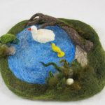 Needle Felted Duck Pond